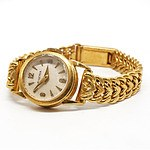 18ct Yellow Gold Minerva Ladies Wrist Watch
