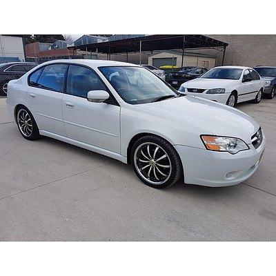 6/2006 Subaru Liberty 2.0R MY06 4d Sedan White 2.0L