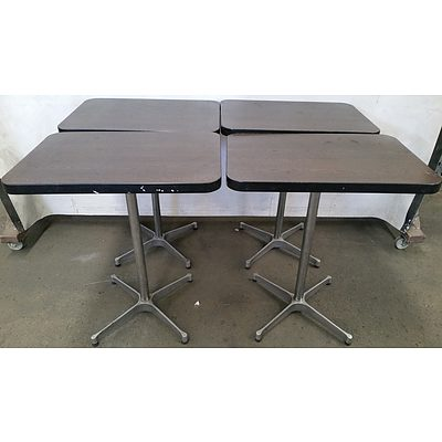 Compact Cafe Tables - Lot of  Four