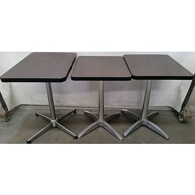 Compact Cafe Tables - Lot of Three