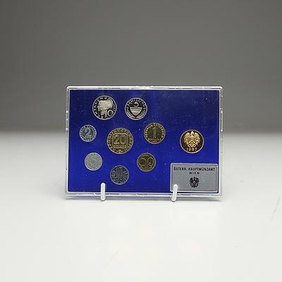 1987 Proof Set Austrian Coins