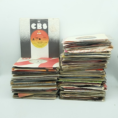Large Group of 45 rpm Records, Including Stevie Wonder, Tears for Fears, Billy Joel, Genghis Khan