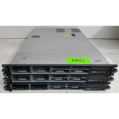 HP ProLiant DL360 G6 Dual Xeon (E5540) 2.53GHz 1RU Server - Lot of Three