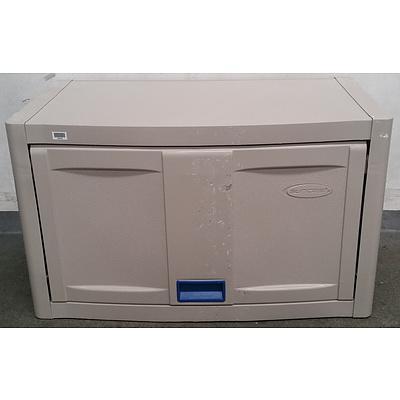 Suncast Platinum Wall Mounted Storage Cabinet - Lot Of 8