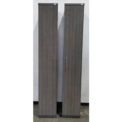 Dark Grey Laminate Personal Storage Cabinet - Lot Of 2