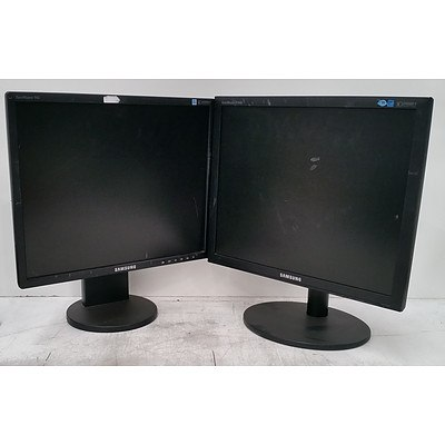 Bulk Lot of Assorted 17-Inch and 19-Inch LCD Monitors