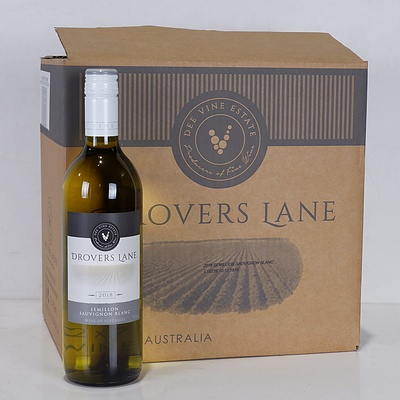 Case of 12x 750ml Bottles 2018 Drovers Lane Semillon Sauvignon Blanc - RRP $240
