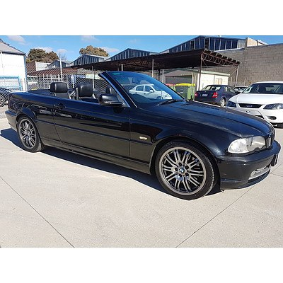 3/2002 BMW 330Ci E46 2d Convertible Black 3.0L