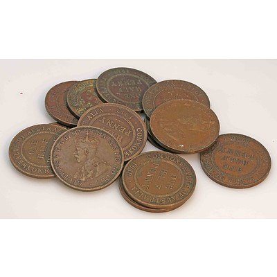 Australia Halfpennies King George V, 1911-1936 (x15)