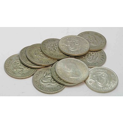 Australia Silver Shillings 1946-1963