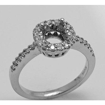 18ct White Gold Diamond Ring Mount