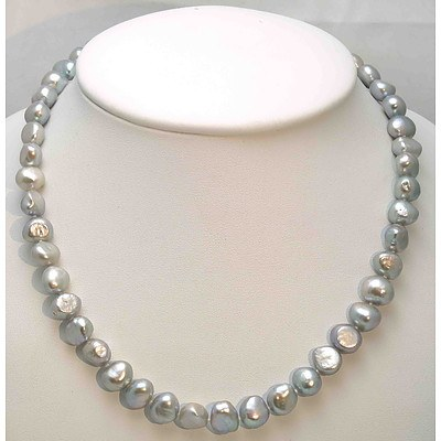 Silver Cultured Pearl Necklace