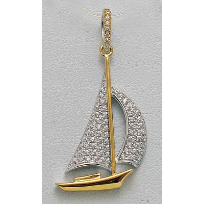 Sterling Silver Yacht Pendant