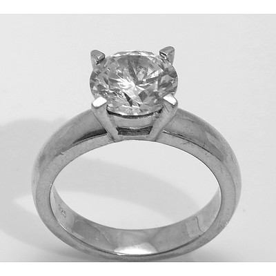 Sterling Silver Ring - 4 claw collet