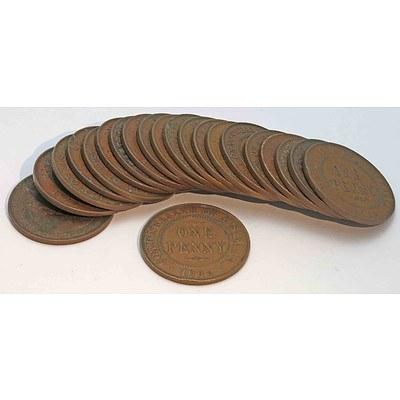 Australia Pennies - George V 1936 (x20)