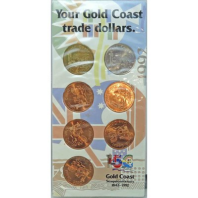 Australia Gold Coast Trade Dollar Set