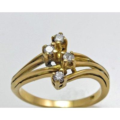 Vintage 18ct Gold Diamond Ring