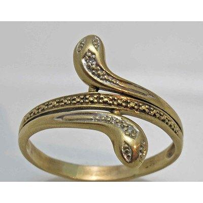 Vintage 9ct Gold Snake Ring