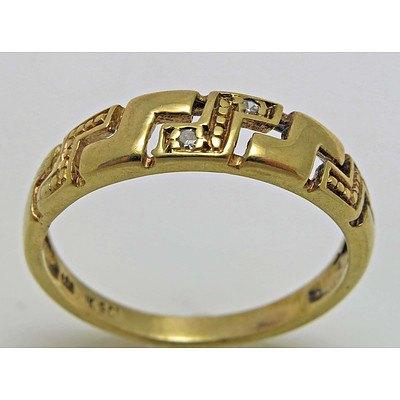 9ct Gold Diamond-set Ring