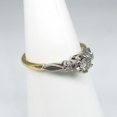 Vintage Diamond Ring - 18ct Gold, Palladium
