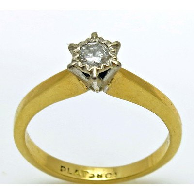 Vintage Diamond Ring - 18ct Gold & Platinum