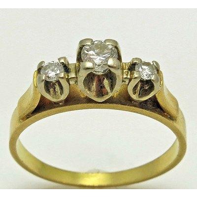 Vintage 3 Diamond Ring