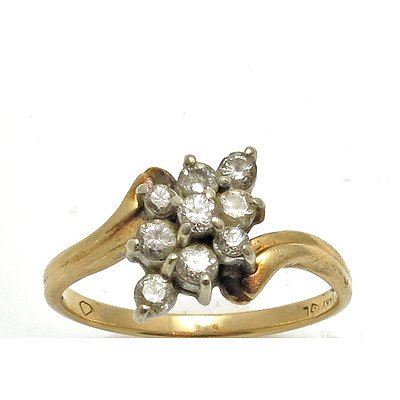 14ct Gold Diamond Cluster Ring