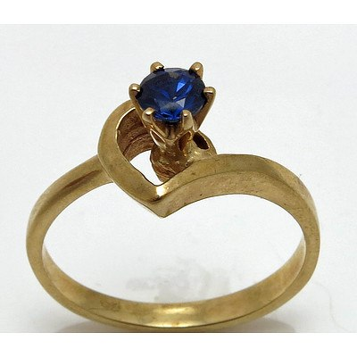 Vintage Blue Sapphire Ring - 9ct Gold