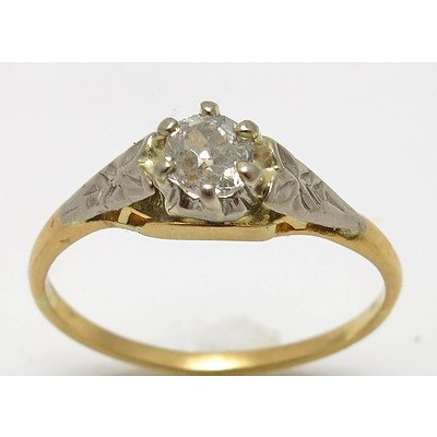Vintage Diamond Ring - 18ct Gold (tested)