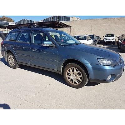 7/2004 Subaru Outback 2.5i Premium MY04 4d Wagon Blue 2.5L