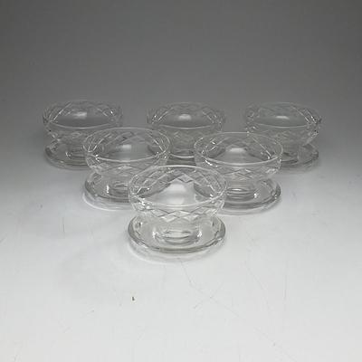 Six Stuart Crystal Bowls