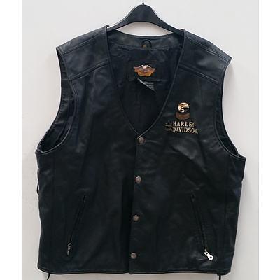 Harley Davidson Leather Vest & Sierra Boots