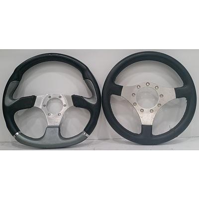 Automotive Sports Steering Wheel - Lot Of 2