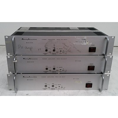 Murray Amplifiers MA534 Power Amplifier Appliance - Lot of Three