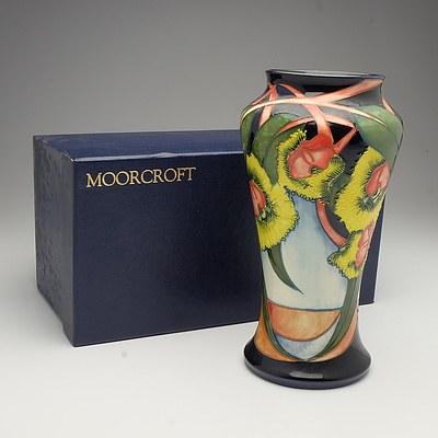 Moorcroft Illyarrie Vase Designed by Emma Bossons, Circa 2000