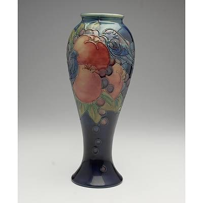 William Moorcroft Pomegranate Vase, Circa 1987