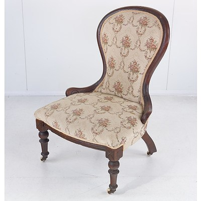 Victorian Mahogany Grandmother Chair
