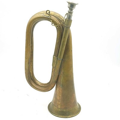 Vintage Copper and Brass Bugle