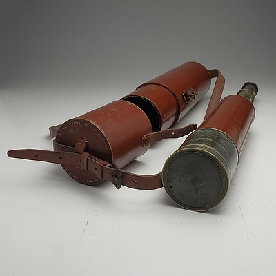 Dollond London Telescope with Leather Case, No 8547
