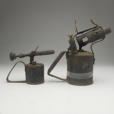 Vintage Swedish Primus No. 632 Blowtorch and Another