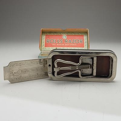 Vintage English Rolls Razor with Original Box