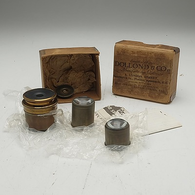 Group of Antique Telescope Lenses
