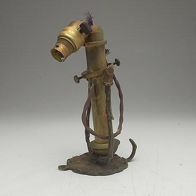 Antique Gimbal Lamp
