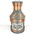 Large Antique Bullpitt & Sons Ltd Birmingham Ships Lantern