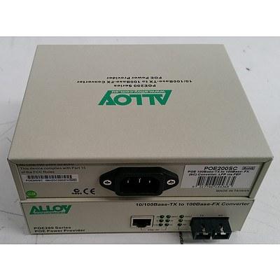 Alloy POE100/POE200 Series 10/100Base-TX to 100Base-FX Converter - Lot of 44