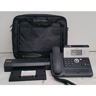 Bulk Lot of Assorted IT & Office Equipment - Office Phone, Laptop Bags, Monitors & Accessories