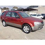 7/2005 Ford Territory TS (4x4) SX 4d Wagon Red 4.0L