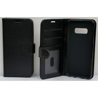 Black Vinyl Wallet Case for Samsung Galaxy S10e - Lot of 70 - Brand New - RRP $1500.00