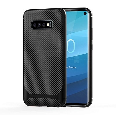 Carbon Fiber Design Soft TPU Back Cover for Samsung Galaxy S10 Plus - Lot of 150 - Brand New - RRP $1500.00