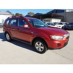 6/2011 Mitsubishi Outlander LS ZH MY11 4d Wagon Red 2.4L
